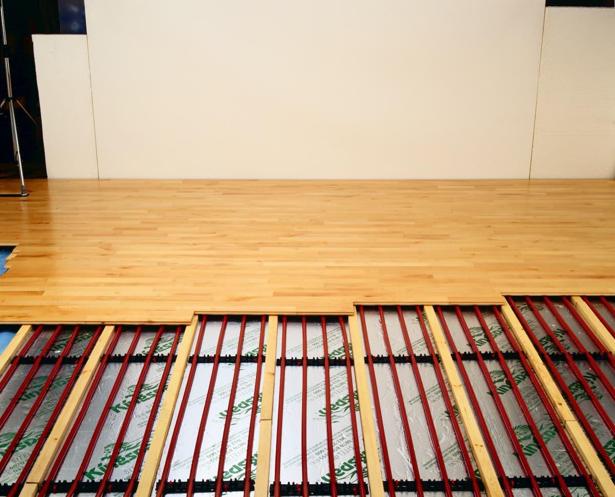 Podlahové kúrenie - prierez